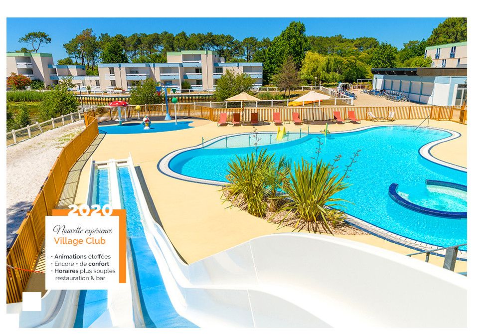 club village vacances piscine lacanau